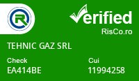 Date firma TEHNIC GAZ SRL - Risco Verified